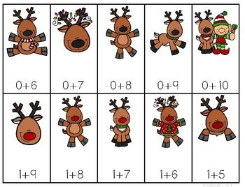 Math Fluency: Reindeer Games Editable 4