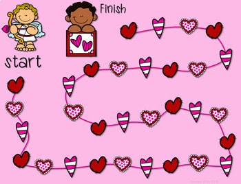 Math Fluency: Valentine's Day Editable 2