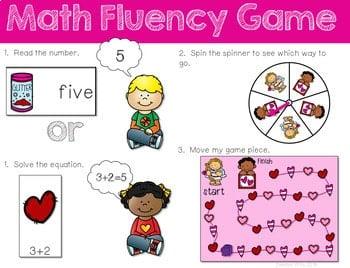 Math Fluency: Valentine's Day Editable 3
