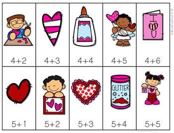 Math Fluency: Valentine's Day Editable 4
