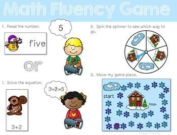 Math Fluency: Winter Editable 2