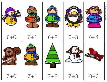 Math Fluency: Winter Editable 4