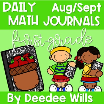 Math Journal Prompts for First-Grade | AUG/SEPT 1