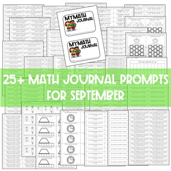 Math Journal Prompts for First-Grade | AUG/SEPT 3