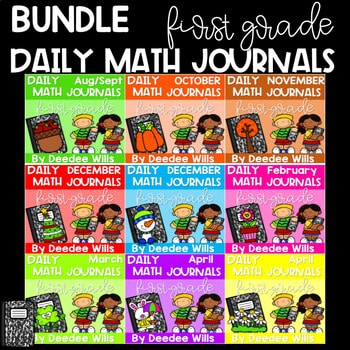Math Journal Prompts for First-Grade   BUNDLE 1