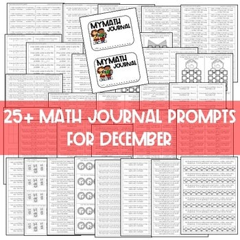 Math Journal Prompts for First-Grade | DECEMBER 3