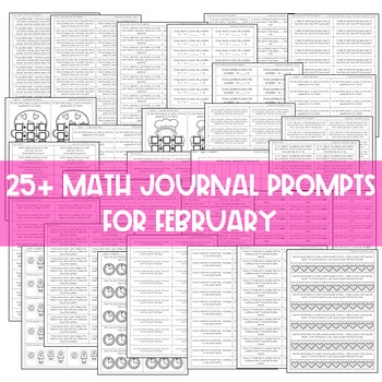 Math Journal Prompts for First-Grade | FEBRUARY 3