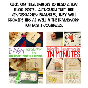 Math Journal Prompts for First-Grade   BUNDLE 2