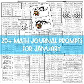 Math Journal Prompts for First-Grade | JANUARY 3