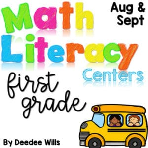 Math and Literacy Center Activities-First Grade March 4
