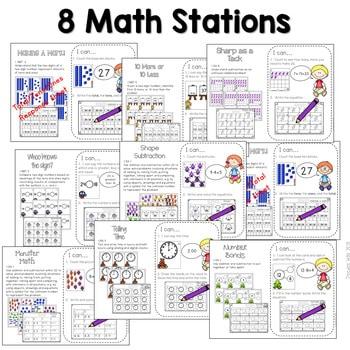 Math and Literacy Center Activities-First Grade Aug/Sept 3