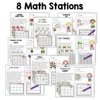 Math and Literacy Center Activities-First Grade December 3