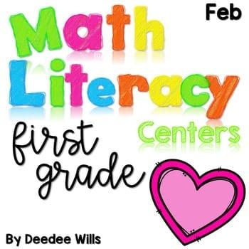 Math and Literacy Center Activities-First Grade February 1
