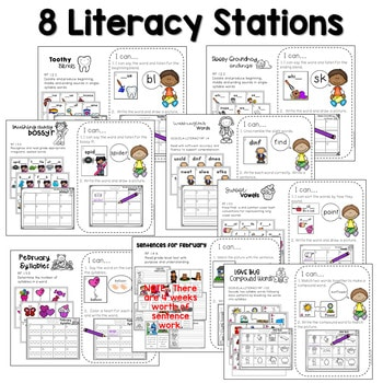 Math And Literacy Center Activities First Grade February