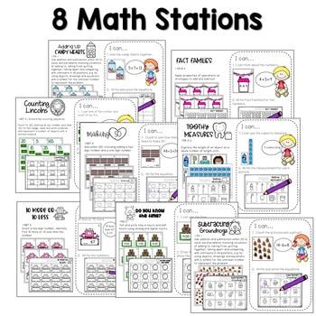 Math and Literacy Center Activities-First Grade February 3