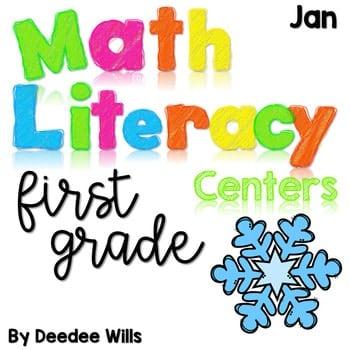 Math and Literacy Center Activities-First Grade January 1