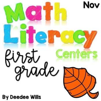 Math and Literacy Center Activities-First Grade November 1