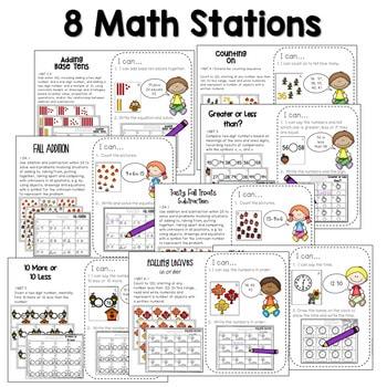 Math and Literacy Center Activities-First Grade November 3