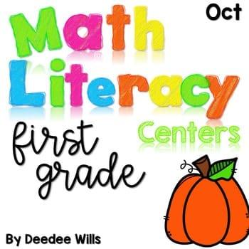 Math and Literacy Center Activities-First Grade October 1