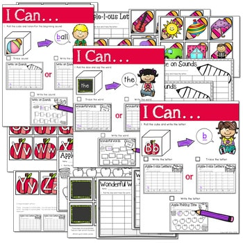 Math and Literacy Center: Just Roll With It: August/September-editable 2