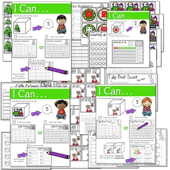 Math and Literacy Center: Just Roll With It: December-editable 3