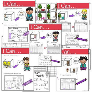 Math and Literacy Center: Just Roll With It: February-editable 3