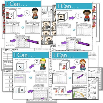 Math and Literacy Center: Just Roll With It: January-editable 2