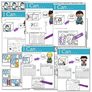 Math and Literacy Center: Just Roll With It: January-editable 3