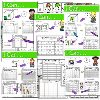 Math and Literacy Center: Just Roll With It: March-editable 2
