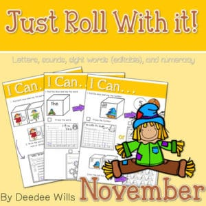 Kindergarten Centers: Black ink ONLY for November 6