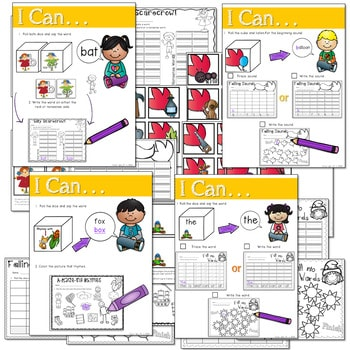 Math and Literacy Center: Just Roll With It: November-editable 2
