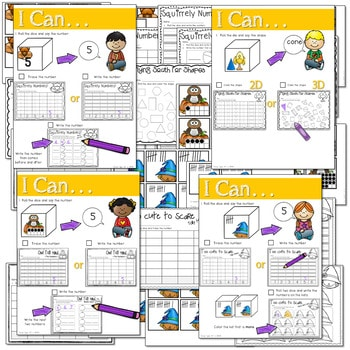 Math and Literacy Center: Just Roll With It: November-editable 3