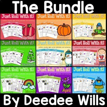 Math and Literacy Center: Just Roll With It The BUNDLE 1