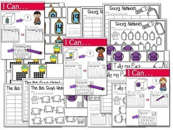 Math and Literacy Center: Just Roll With It The BUNDLE 4