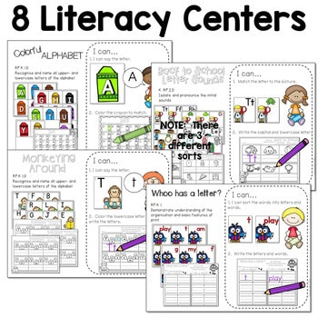 Math and Literacy Center for August & September 3