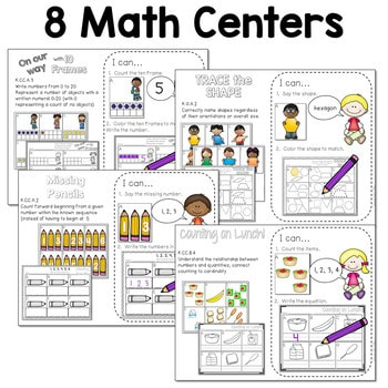 Math and Literacy Center for August & September 4