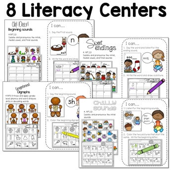 Math and Literacy Center for December 2