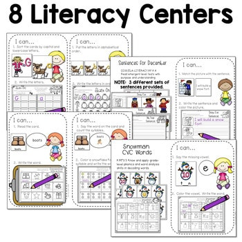 Math and Literacy Center for December 3