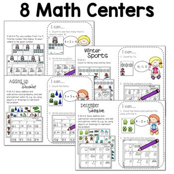 Math and Literacy Center for December 4