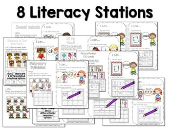 Math and Literacy Center for February 2
