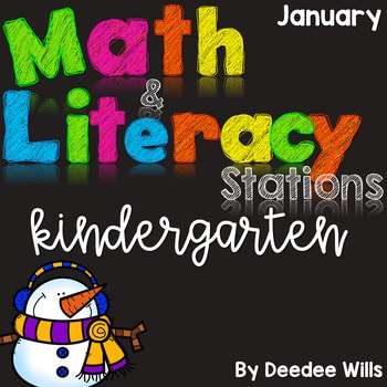Math and Literacy Center for January 1