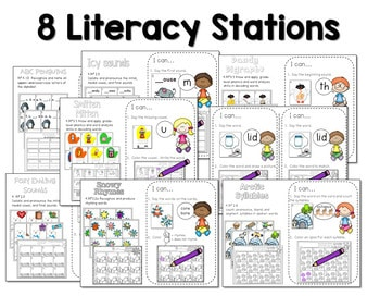 Math and Literacy Center for January 2