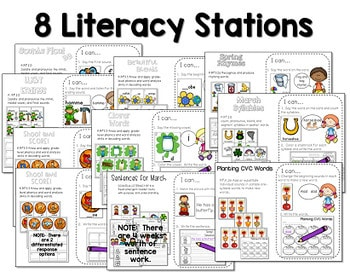 Math and Literacy Center for March 2