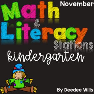 Kindergarten Math Journal Prompts | NOVEMBER 6