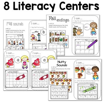 Math and Literacy Center for November 3