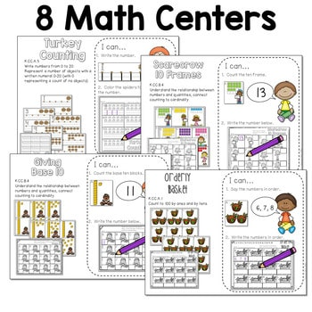 Math and Literacy Center for November 4