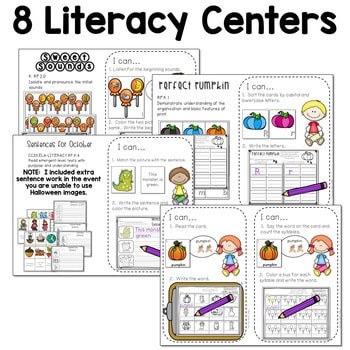 Math and Literacy Center for October 3