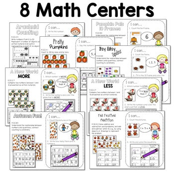 Math and Literacy Center for October 4