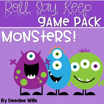 Monsters!!!! Game Pack Roll, Say, Keep-Editable 1