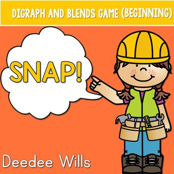 PHONICS ~ SNAP! Digraphs and Blends (Initial Sounds) Phonics Game 1